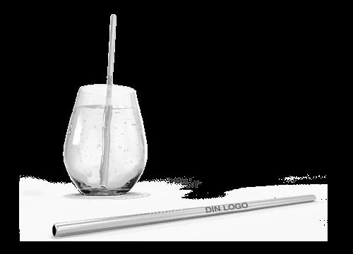Straight - Gjenbrukbare sugerør med logo